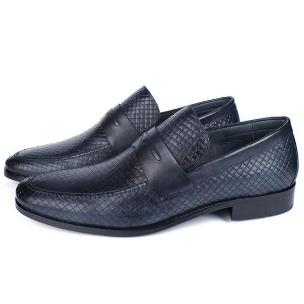 Sapato Masculino Loafer em Couro Elba Blue Savelli