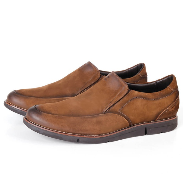 Sapato True Tech Casual em Couro Tan Savelli