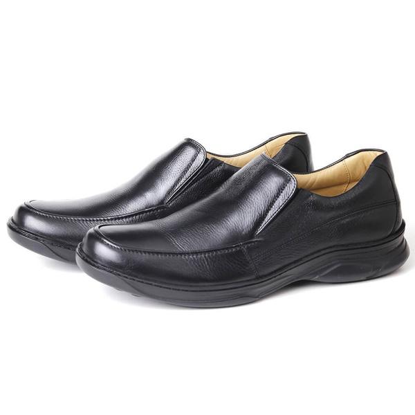 Sapato Comfort Plus em Couro Floater Preto Savelli