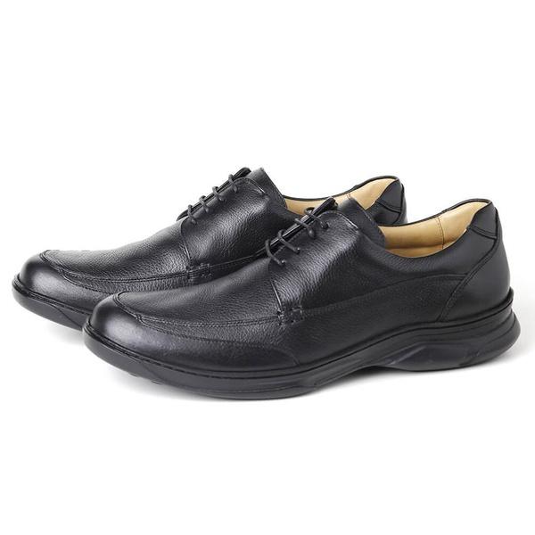 Sapato Comfort Plus em Couro Preto Savelli