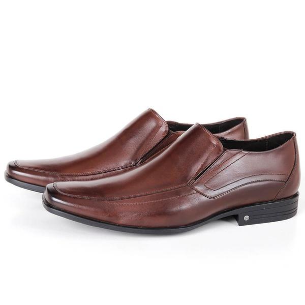 Sapato Conforto de Calçar em Couro Café Savelli