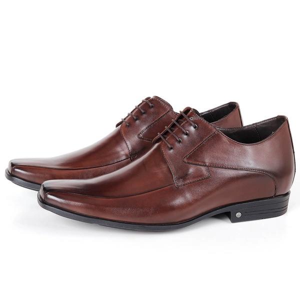 Sapato Up Clássico em Couro Café Savelli