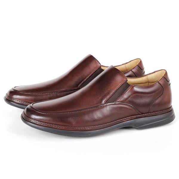 Sapato Massage de Calçar em Couro Café Savelli