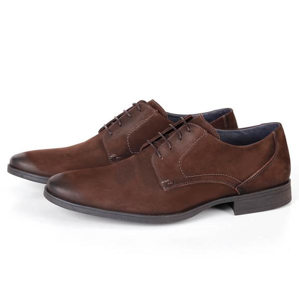 Sapato Clássico Social em Couro Café Savelli