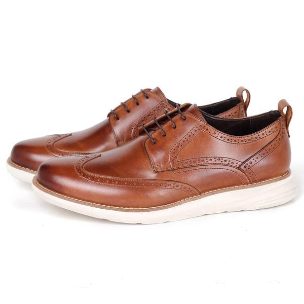 Sapato Masculino Derby Conforto em Couro Havana Savelli