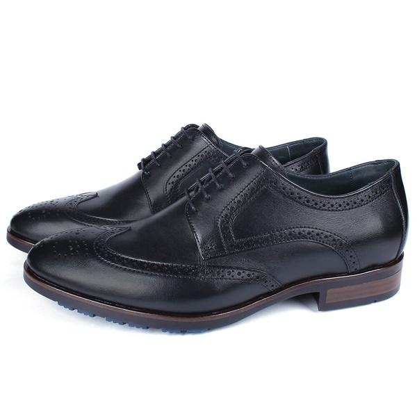 Sapato Masculino Derby Mônaco Em Couro Preto Savelli