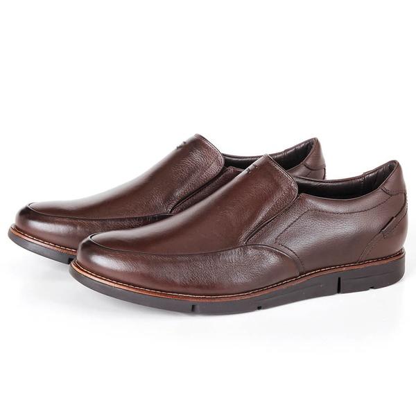 Sapato True TechCasual em Couro Café Savelli