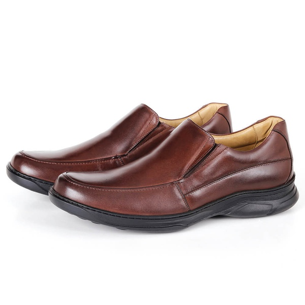 Sapato Comfort Plus em Couro Café Savelli