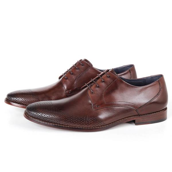 Sapato Clássico Social em Couro Café Savelli (Solado de Couro)