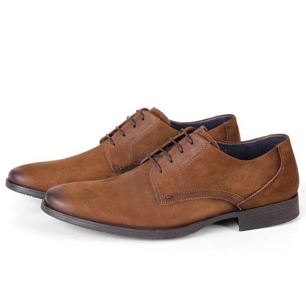 Sapato Clássico Social em Couro Tan Savelli