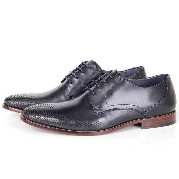 Sapato Clássico Social em Couro Preto Savelli (Solado de Couro)