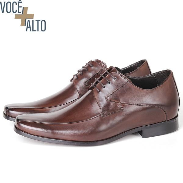 Sapato Up Clássico em Couro Café Savelli (Solado de Couro)