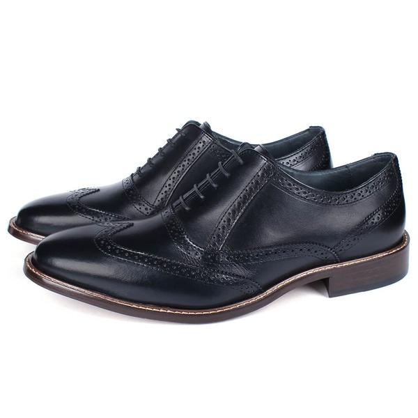 Sapato Masculino Oxford Vulcano em Couro Preto Savelli