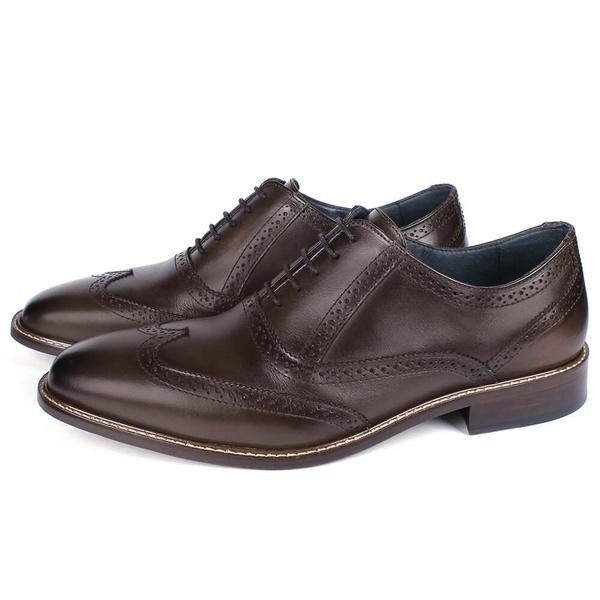 Sapato Masculino Oxford Vulcano em Couro Café Savelli