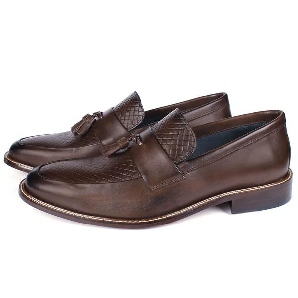 Sapato Masculino Loafer Vulcano em Couro Café Savelli