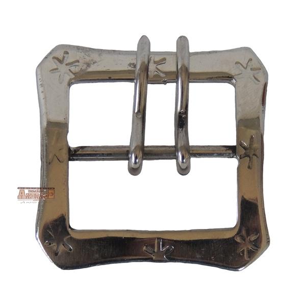 Fivela Guaiaca Quadrada 40mm Inox