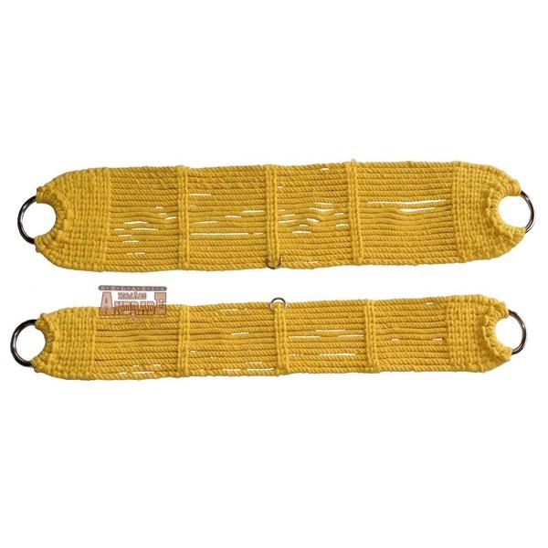 Conjunto De Barrigueira E Cilha Lã Torcida Amarela