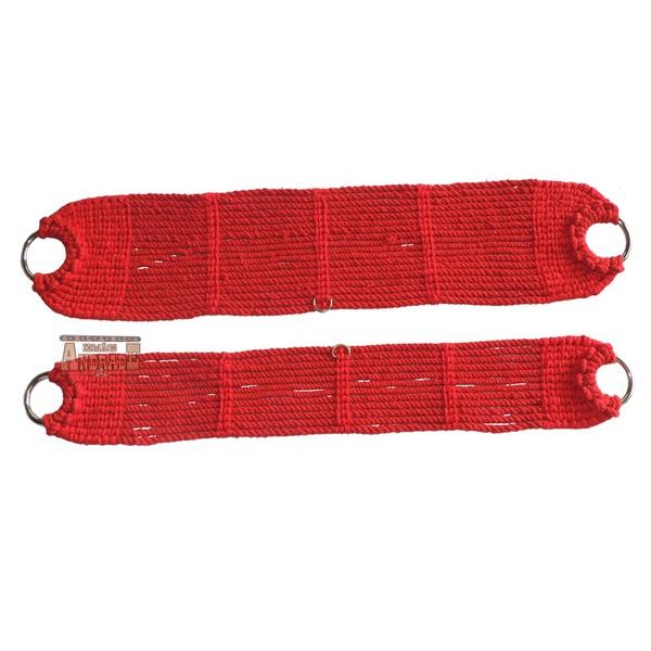 Conjunto De Barrigueira E Cilha Lã Torcida Vermelha