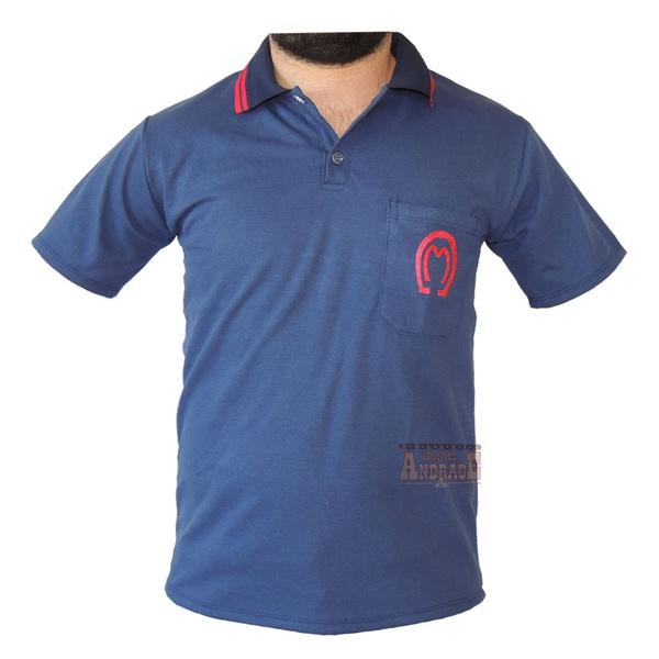 Camisa Mangalarga Masculina Azul