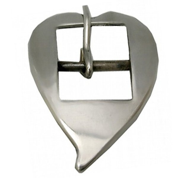 Fivela Coração de Bico Sob Cilha 20 mm Inox
