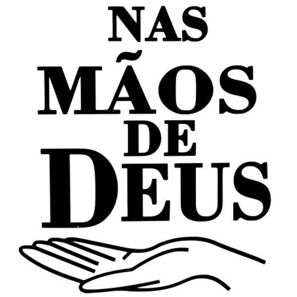 Adesivo Nas Mãos De Deus (Preto)