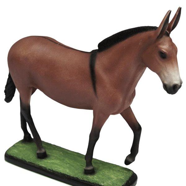 Escultura Miniatura de Mula de Marcha