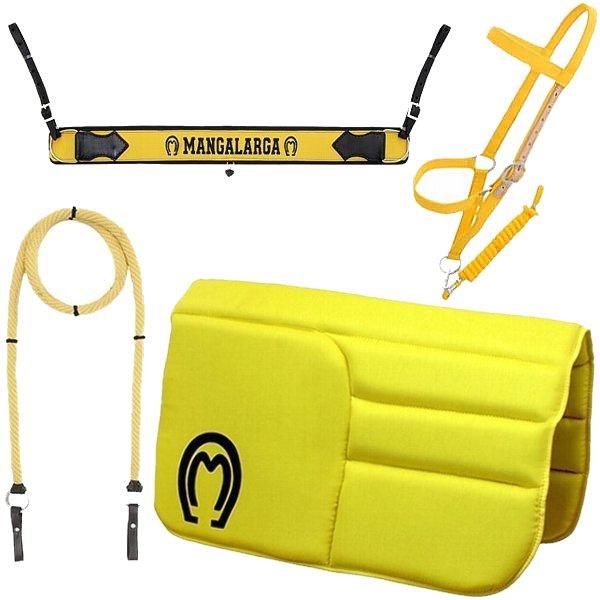 Kit Acessórios Mangalarga (Amarelo) Manta, Cabresto, Rédea e Peitoral