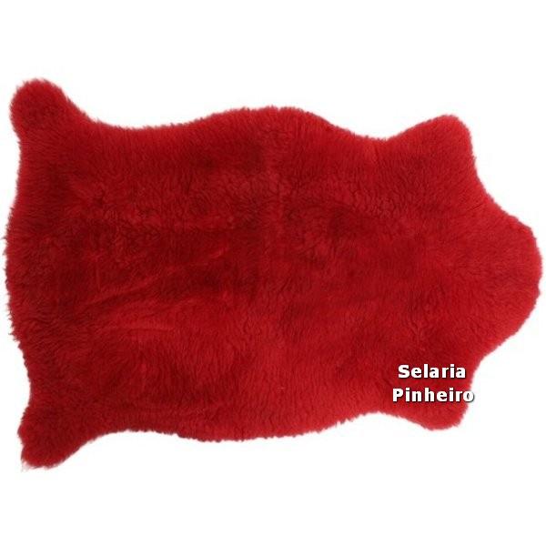 Pelego Natural Penteado 100 x 70cm (Vermelho)