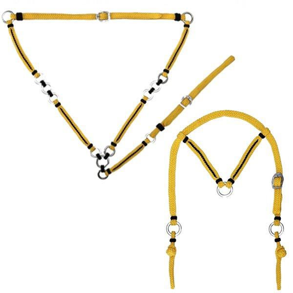 Conjunto de Peitoral e Cabeçada em Cordas Trançadas PC10