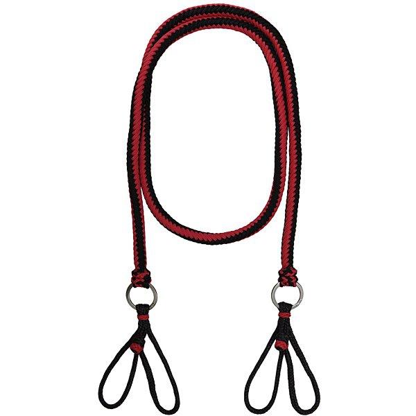 Rédea de Luxo em Cordas Trançadas (Preta e Vermelha)