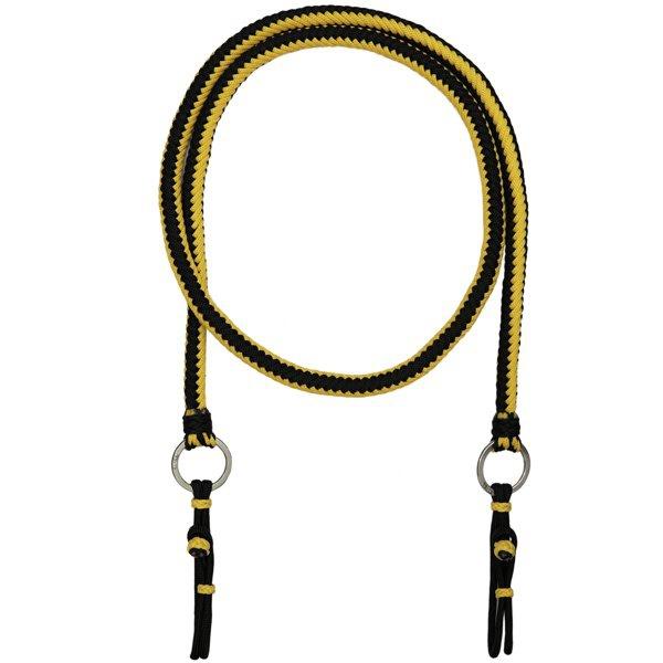 Rédea de Luxo em Cordas Trançadas (Preto e amarelo)