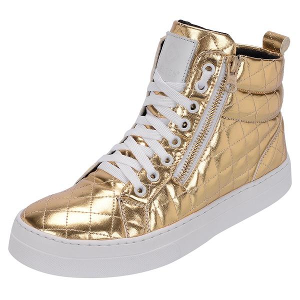 Bota Treino Academia Sneaker Fitness Dourada - Selten