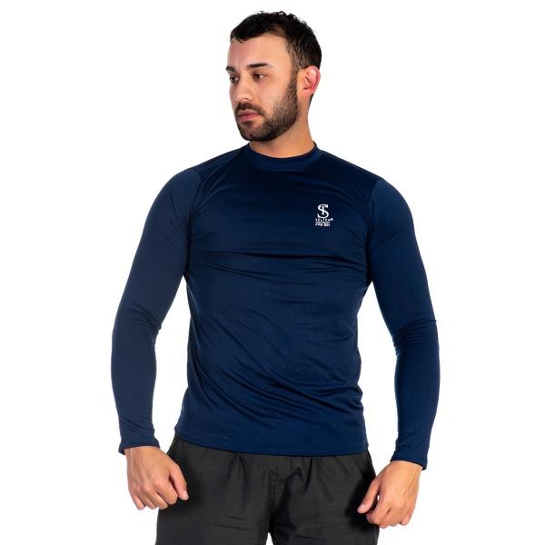 Camiseta Masculina com Proteção UV Térmica Marinho -Selten