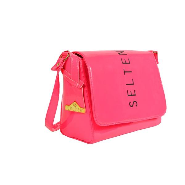 Bolsa Neon Feminina Lateral E transversal Rosa