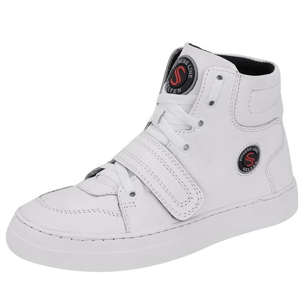 Bota Sneaker Branca em Couro Legítimo - Selten
