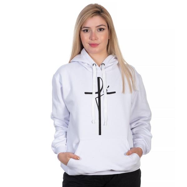 Moletom Feminino Fé Branco - Selten