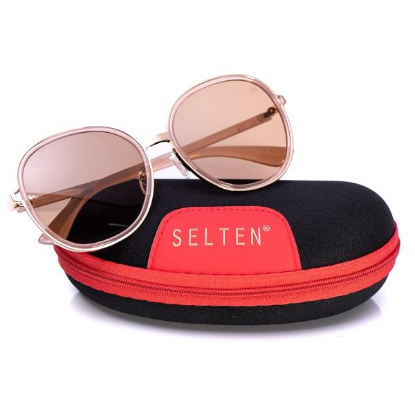 Óculos De Sol Feminino Redondo Selten