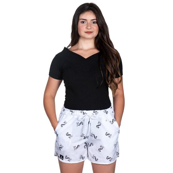 Short Tactel Feminino Summer Selten Branco