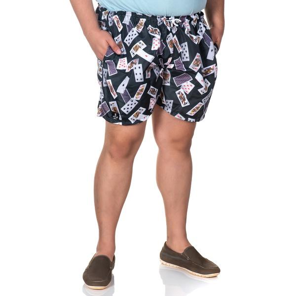 Short Masculino Plus Size Tactel Baralho Selten