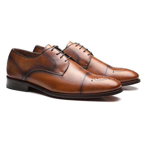 SAPATO MASCULINO SOCIAL DERBY WHISKY