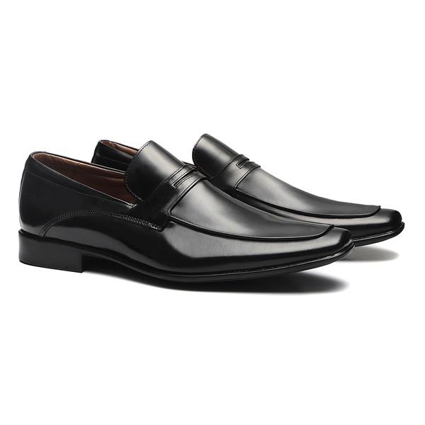 Sapato Loafer Masculino Em Couro Preto