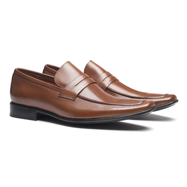 SAPATO PENNY LOAFER SOCIAL MASCULINO EM COURO
