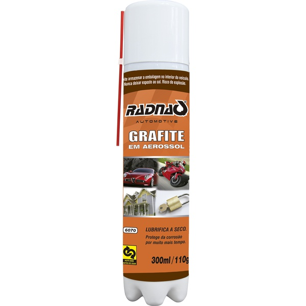Grafite Aerossol Spray Radnaq 300ml