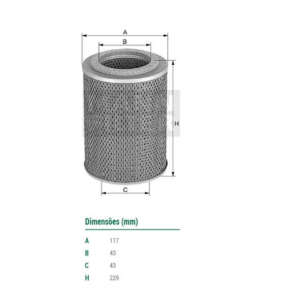 Filtro Óleo Lubrificante do Motor Caminhão OMS352/A 1318/151/2016/2214