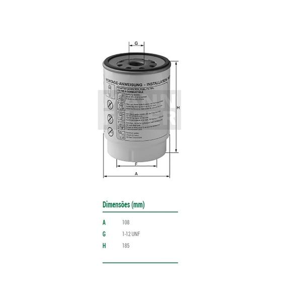 Filtro Separador De Água Accelo / Atego / Axor