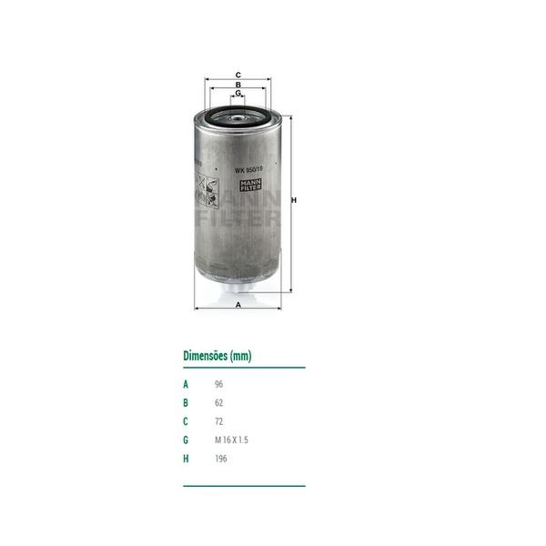 Filtro Separador de Água MB Atego, Axor, Actros OM926/457