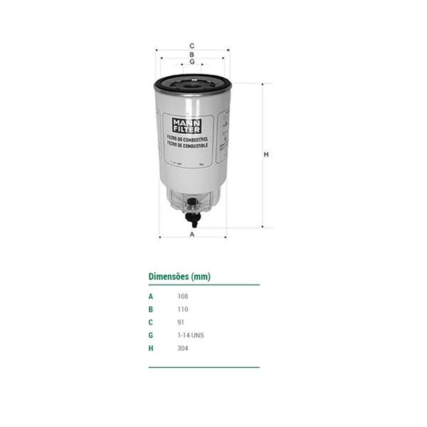 Filtro Separador De Água Volvo/ Cummins/ Constellation