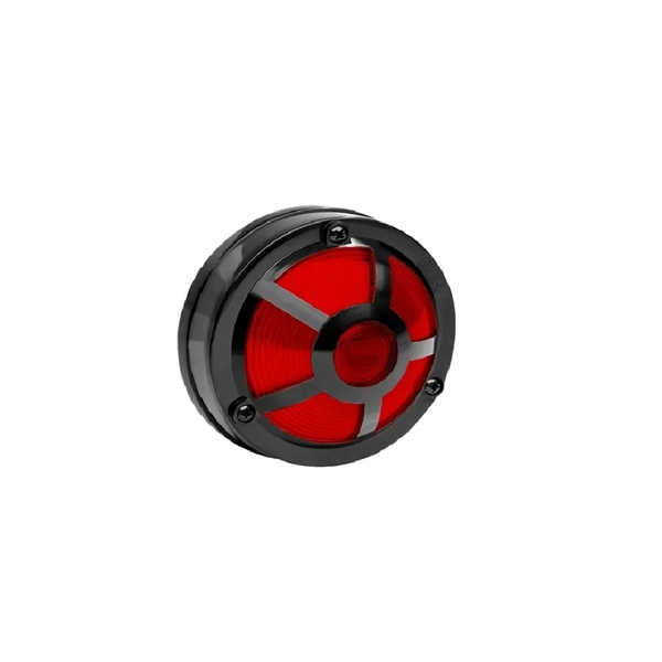 Lanterna Lateral Carreta Base reta C/ Tela Vermelha