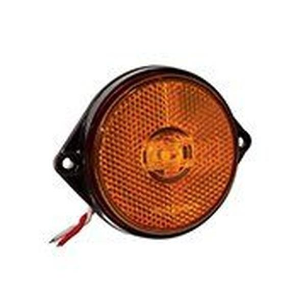 Lanterna LED Lateral Carreta Amarela (66mm C/ Chicote)