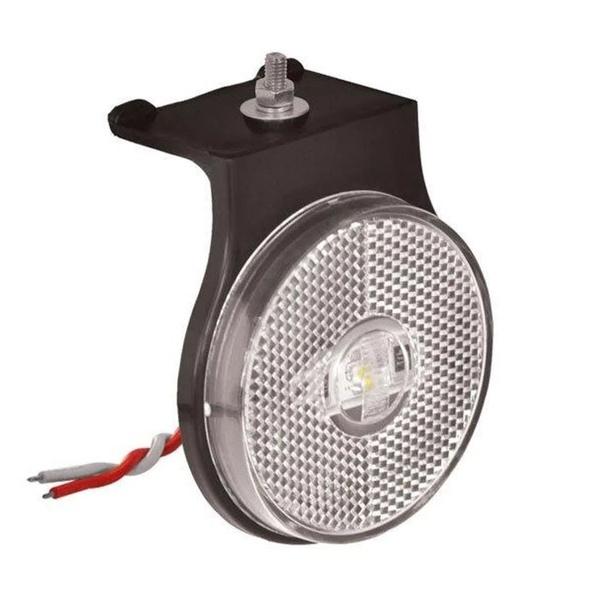 Lanterna LED Lateral Carreta Cristal C/ Suporte (66mm)